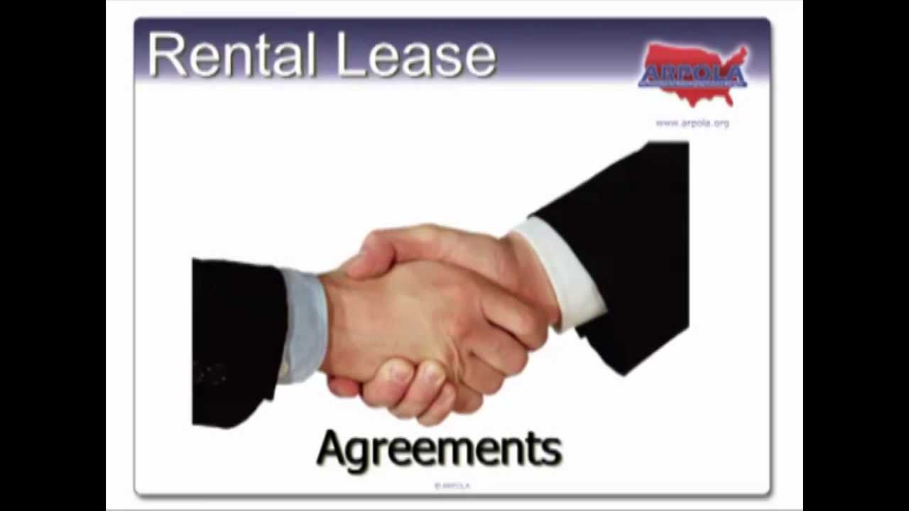 Understanding Leases And Rental Agreements Youtube