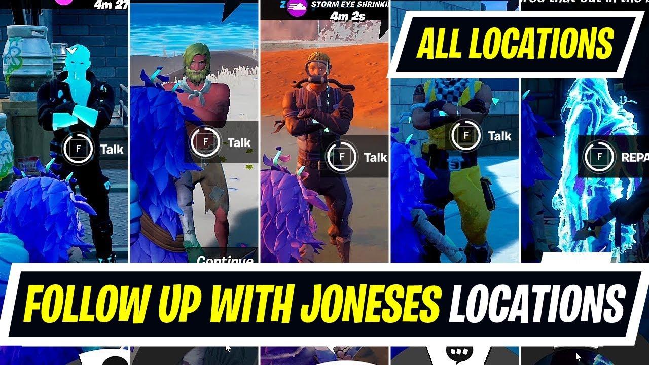 Talk to Joneses locations