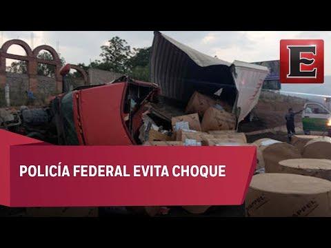 Video: Tráiler se queda sin frenos en la México-Puebla
