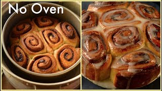 Eggless Cinnamon Roll Recipe Without Oven | Best Easy Cinnamon Roll Recipe from Scratch |