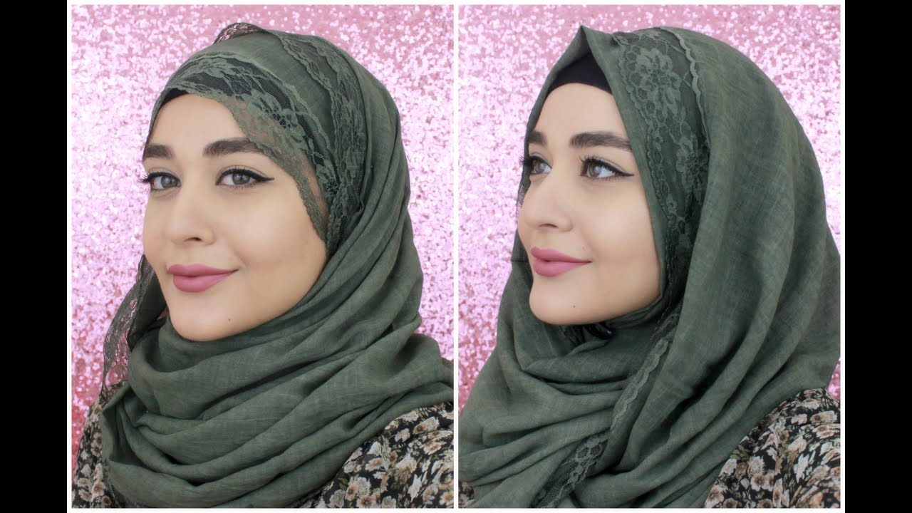 Lace Htuttorial Hijab This Is A Beautiful Black Hijab Lined With