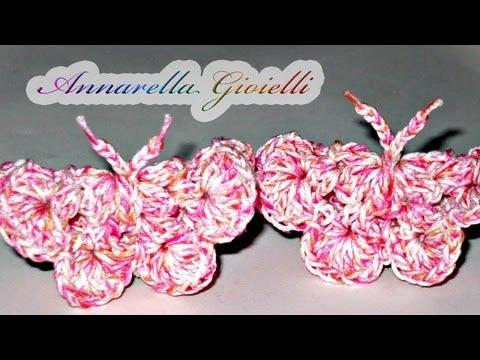 Tutorial Farfalla Alluncinetto Crochet Butterfly Youtube