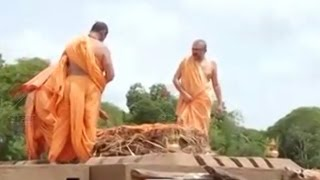 Pramukh Swami's Funeral Preparations In Sarangpur