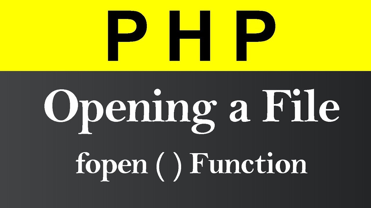 Opening a File in PHP (Hindi)