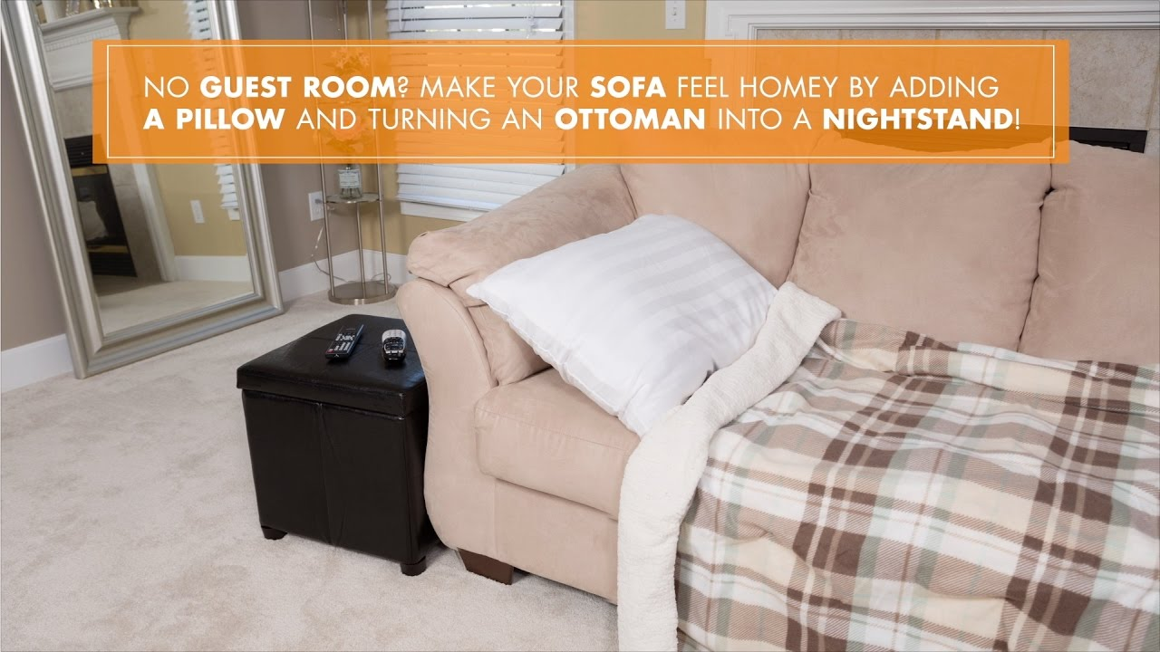 Big Lots Quick Tip Turn Your Couch Into A Guest Bed