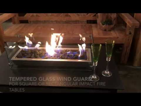 Tempered Glass Wind Guard for IMPACT Fire Table