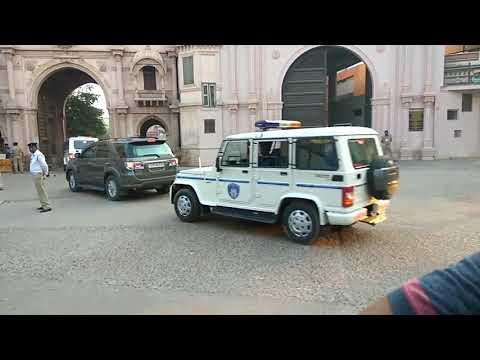 Amit Shah , Grand Entry In Vadtal Swaminarayan Mandir ,Anand.