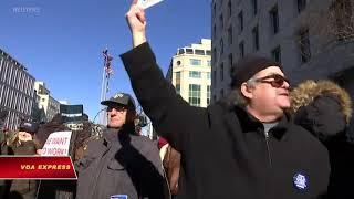 Công chức Mỹ biểu tình phản đối đóng cửa chính phủ (VOA)