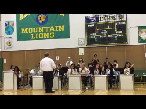 """Incline Middle School Jazz Band Performs """"25 or 6 to 4"""""""