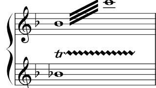 Exemplo para trinado em oitava - Versão 2