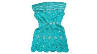 Вязание крючком. Платье - туника.