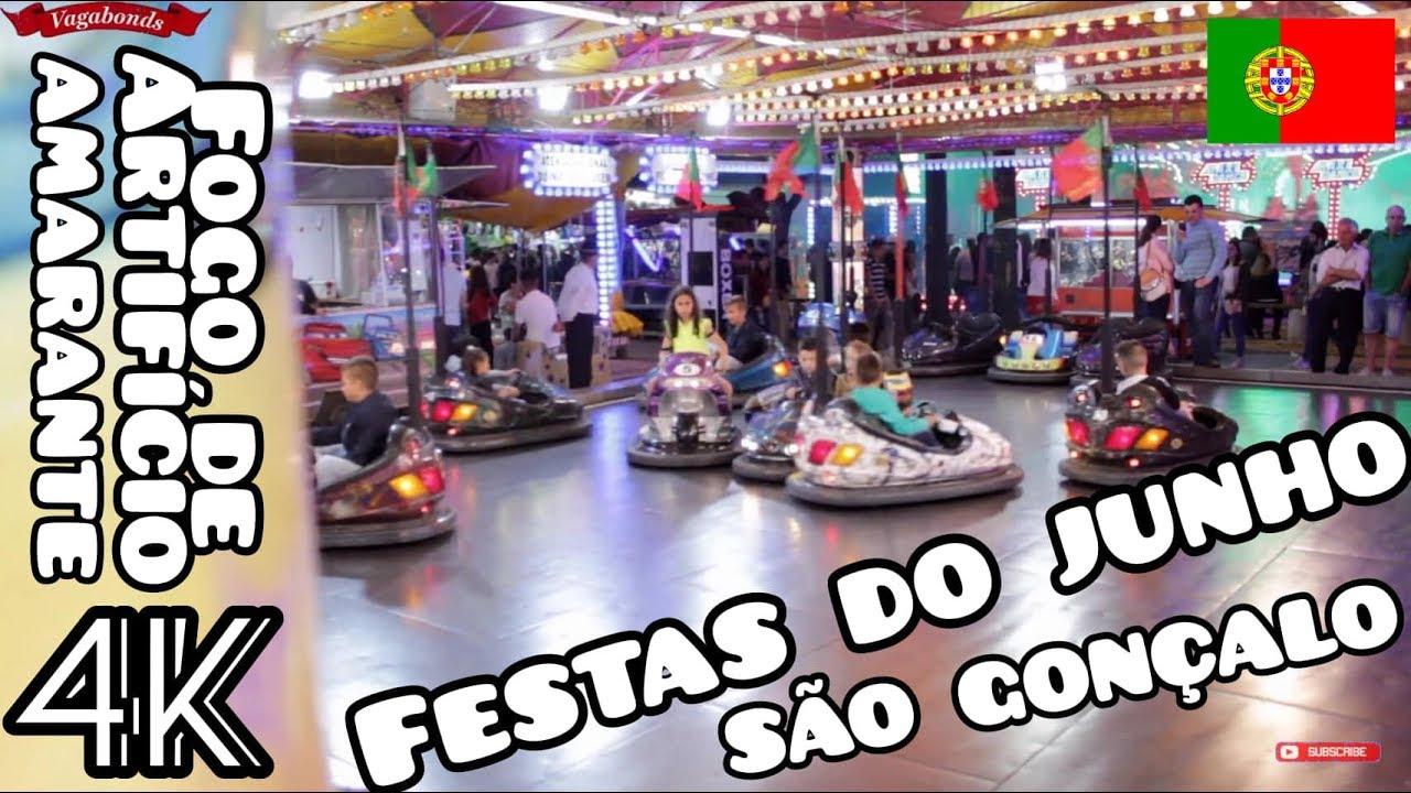 FESTAS DO JUNHO   Amarante   São Gonçalo Fogo de artifício 4k