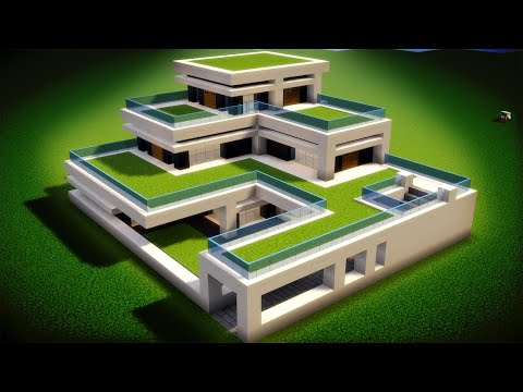 Easy Minecraft: Large Modern House Tutorial - How to Build a House in Minecraft #45