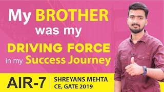 GATE 2019 Topper   Shreyans Mehta (CE, AIR-7)   MADE EASY Student   Topper's Talk