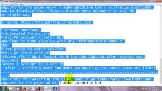 Ask.fm Account Creator Bot | Account Creator | proxy support | 100%Free