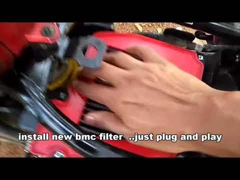 Power filter for Yamaha  FZ/Fazer, how to install BMC or K&N performance air filter (DIY)