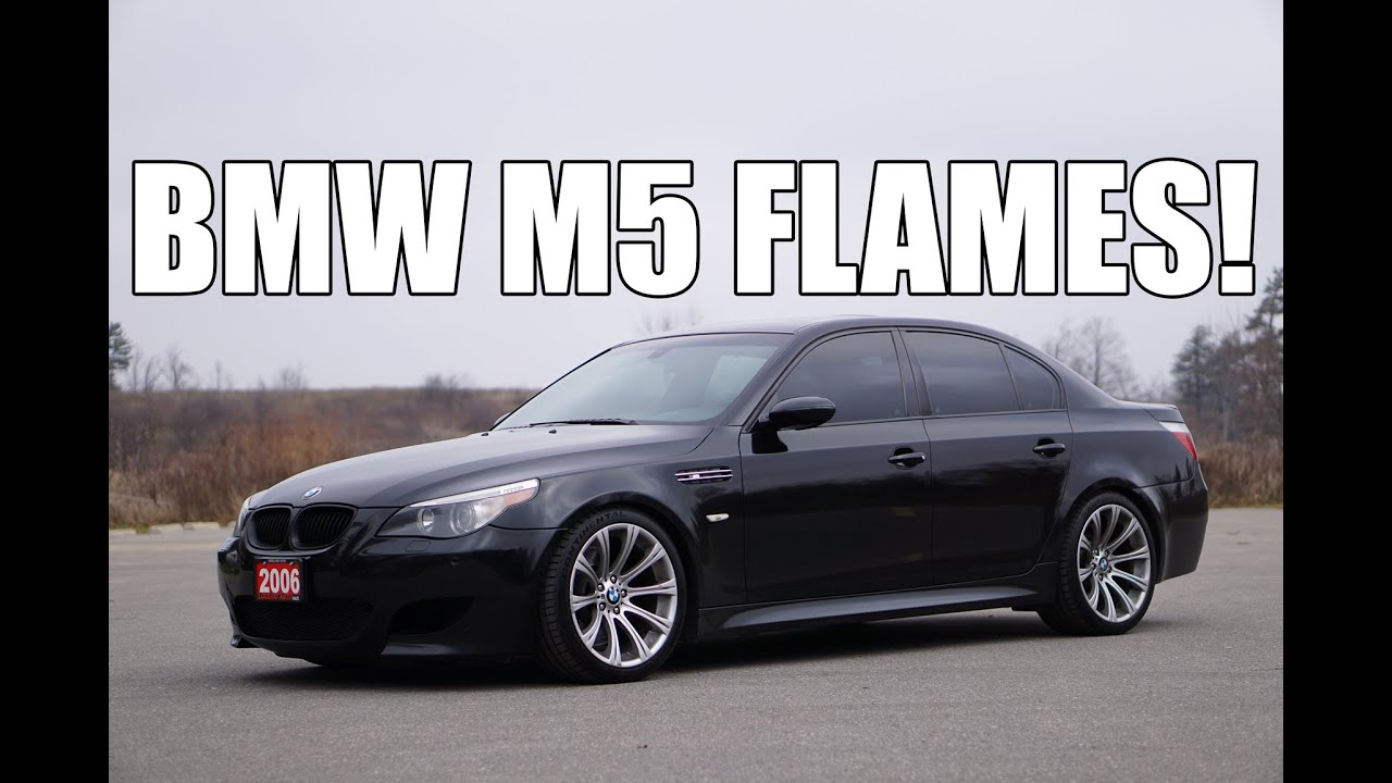 bmw m5 v10 shooting flames launch exhaust youtube. Black Bedroom Furniture Sets. Home Design Ideas