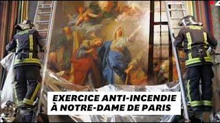 Quand les pompiers simulaient un incendie à Notre-Dame de Paris