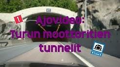Ajovideo: Turun moottoritien tunnelit
