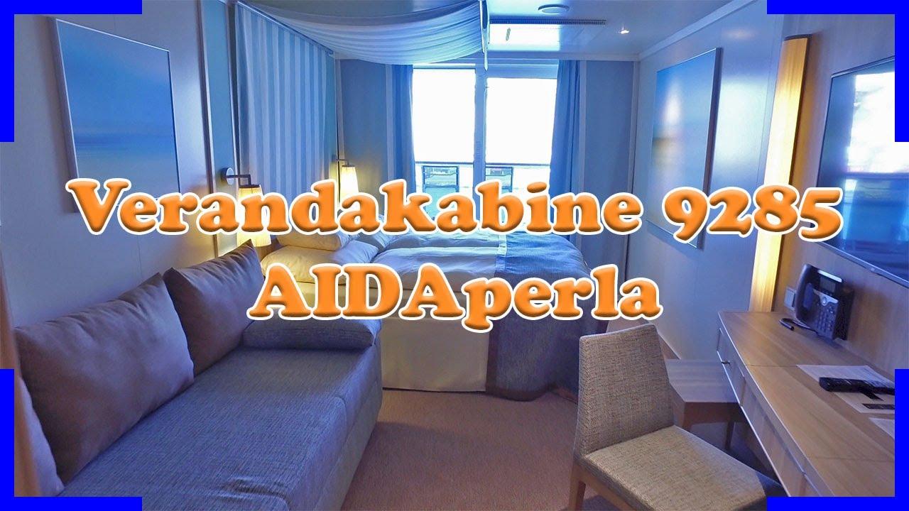 Verandakabine aida  AIDAperla Verandakabine 9285 für 4 Personen Kabinenrundgang - YouTube