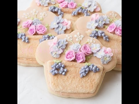 How to Create Stucco Effect Flower Pot Cookies with Royal Icing
