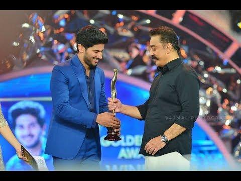 Dulquer Salman got award from kamalahasan tamil at asianet film awards 2018