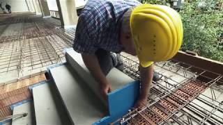 Traiter les ponts acoustiques d'un escalier: Schöck Tronsole® type F,B,L.