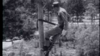 POLE LINE CONSTRUCTION - PART III - ERECTING POLES AND ATTACHING CROSSARMS