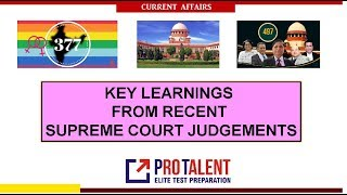 Key Learning from Recent Supreme Court Judgments I A must for CLAT Students