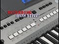 Yamaha PSR-E443 Recording Demo 2 - Recording With Accompaniment/Style