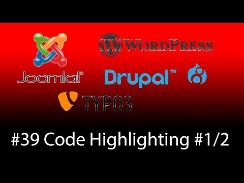 Prism.js Code Highlighting Für Alle CMS Wie Joomla, Wordpress, Drupal, Typo3 - Teil 1  -  [1080p HD]