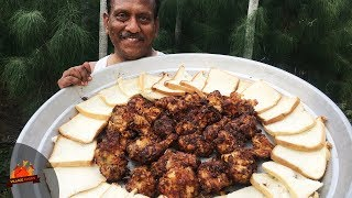 Fried Chicken Recipe | Tebasaki Fried Chicken Recipe  | Village Foods