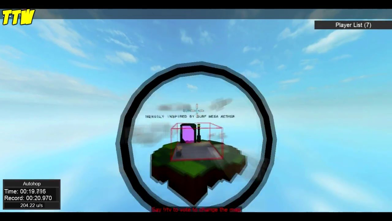ROBLOX: Surf (Maps: Sky, Orange, Quiescent, Based Plate II, Blue Realms)