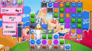 Candy Crush Saga Level 1690 - No Boosters Strip Candy and Color bomb