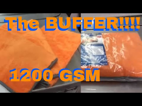 THE BUFFER!!! Super Plush 1200 GSM Multi Purpose Microfiber Detailing Towel!!