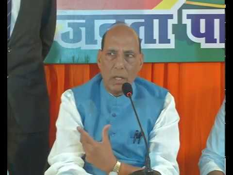 Shri Rajnath Singh interaction with media in Varanasi, Uttar Pradesh