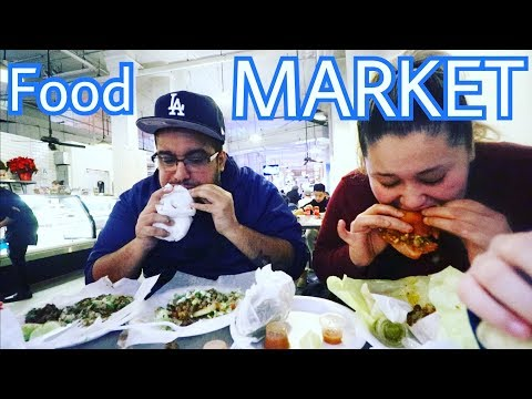 Vlogmas 6 - Grand Central Food Market! LOS ANGELES - SO MANY FOODS - VLOG VLOGGING VLOGGERS