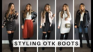 How To Style Over The Knee Boots 5 Ways | Go Live Explore
