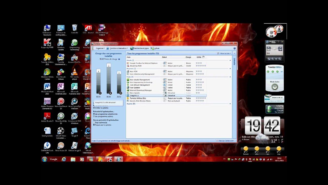 Capture d 39 cran acer aspire 8730zg youtube for Capture d42cran