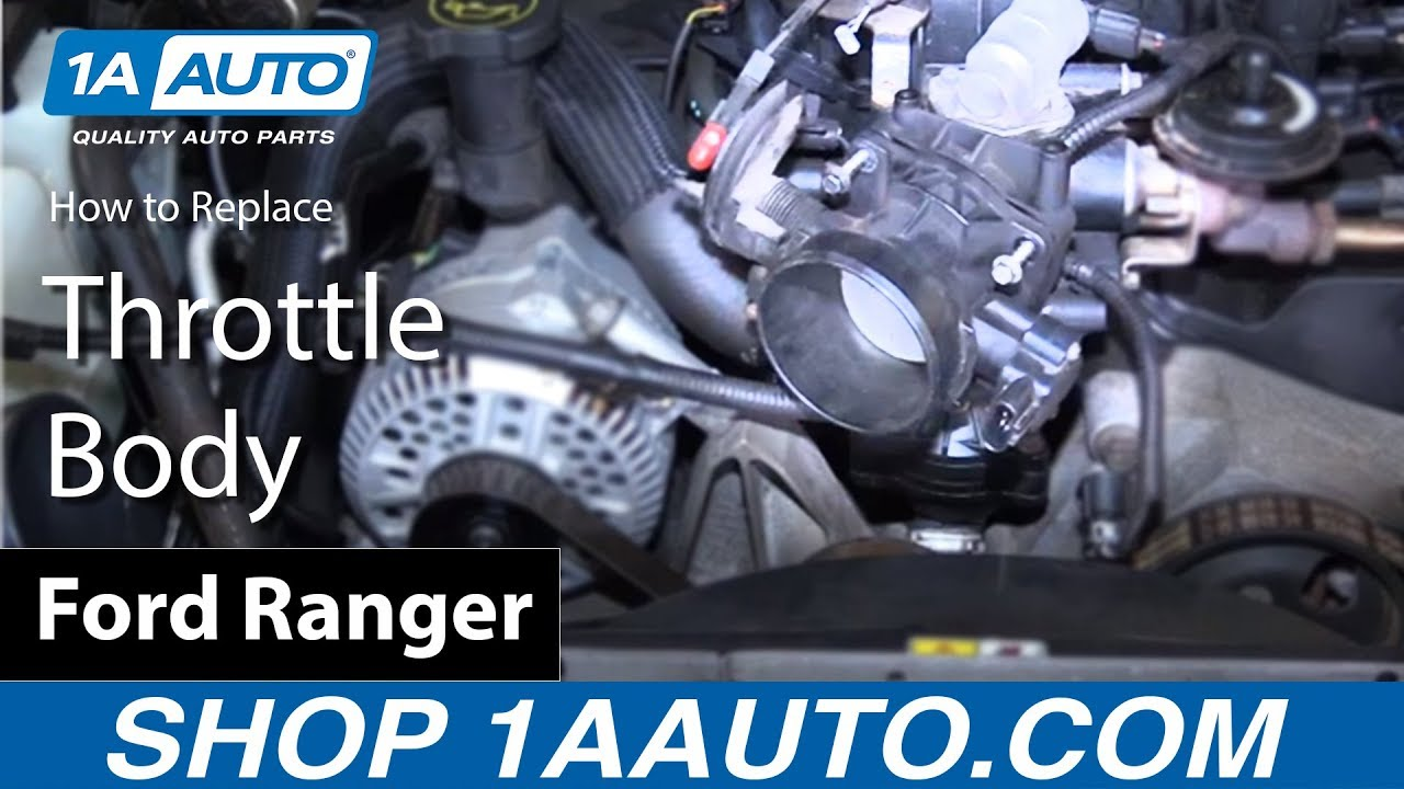hight resolution of how to replace throttle body 98 12 ford ranger 4 0l