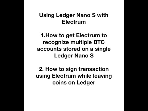 Using Ledger Nano S With Electrum To Sign BTC Transaction, Use To Claim HEX.