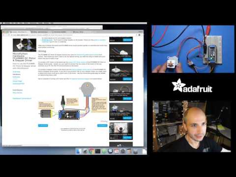 MicroPython DC, Stepper Motors and WebREPL Robot with Tony D! @micropython @esp8266