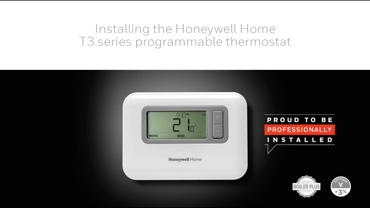 Installing The Honeywell Home T3 Series Programmable Thermostat Youtube