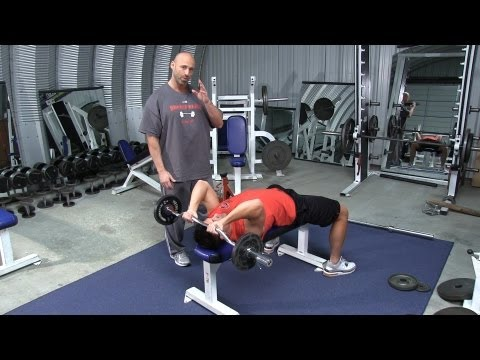 Lying Barbell or EZ Bar Triceps Extension