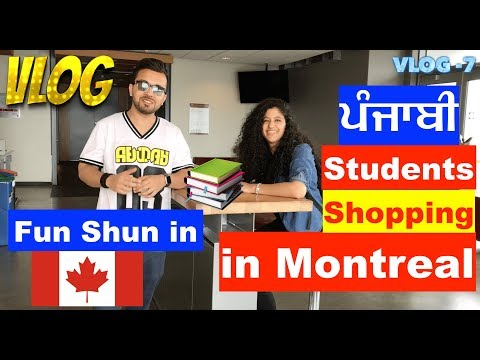 VLOG 7: Street Shopping in Montreal | Punjabi students having fun in Canada