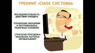 Обучение трейдеров.Тренинг СИЛА СИСТЕМЫ. Аркадий Романович.
