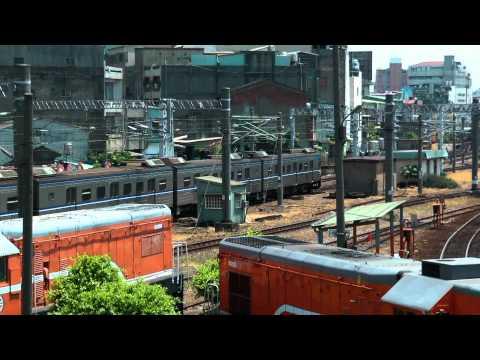 [HD] The Taiwan TRA up Local Train No. 2504 (Changhua To Hsinchu) EMU 500 at Changhua Station