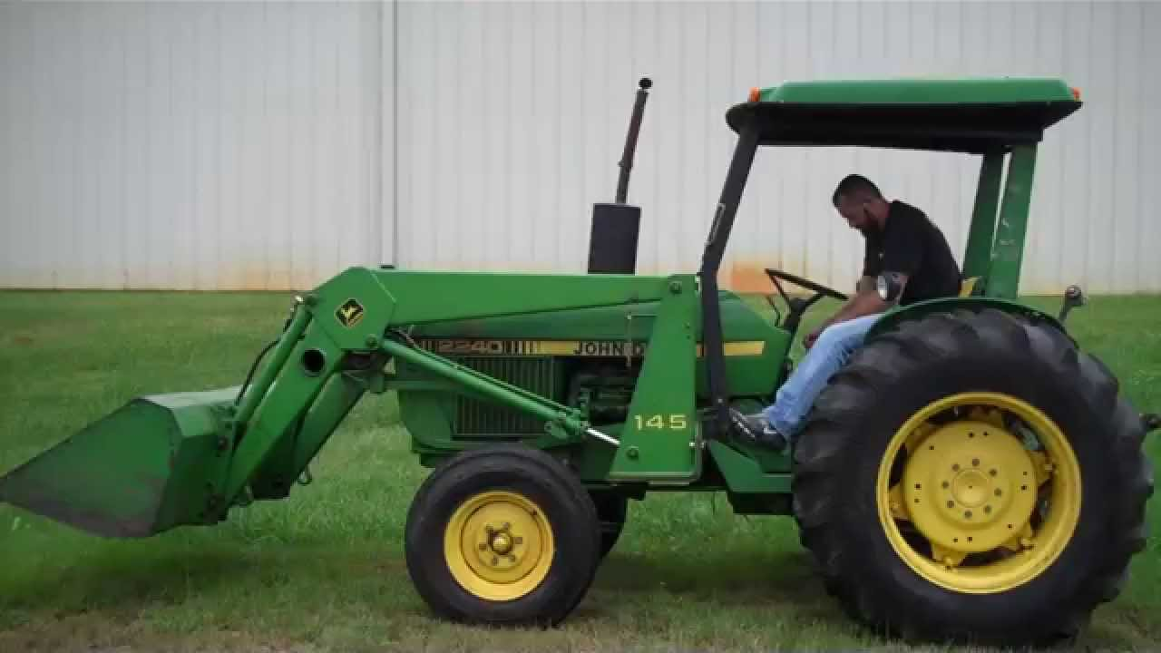 John Deere 2240 Tractor W Loader Tag 40207 Youtube