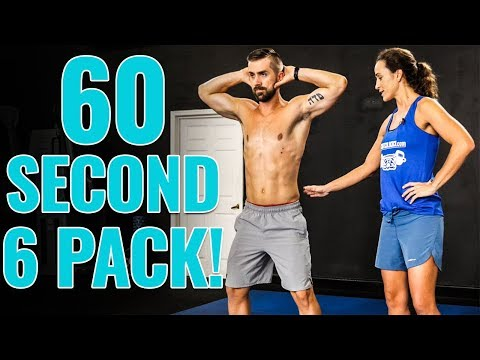 1 Minute SIX PACK Abs  –  STANDING Core Routine for All Levels