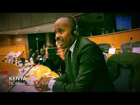 Hon. Kiarie, MP Kenya, on Youth in the ACP-EU Partnership, European Parliament, Brussels